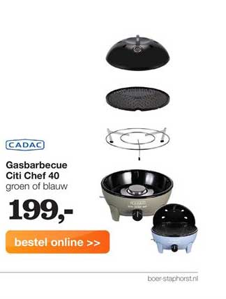 Boer Staphorst Gasbarbecue Citi Chef 40
