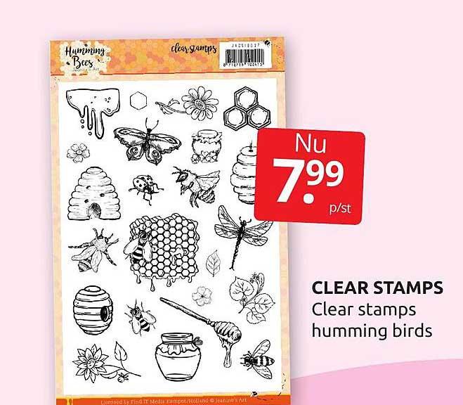 BoekenVoordeel Clear Stamps Clear Stamps Humming Birds