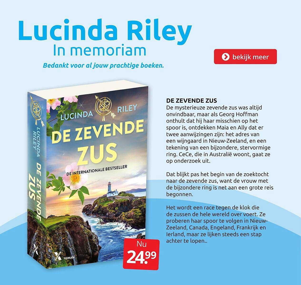 BoekenVoordeel De Zevende Zus - Lucinda Riley