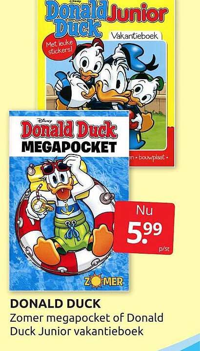 BoekenVoordeel Donald Duck Zomer Megapocket Of Donald Duck Junior Vakantieboek