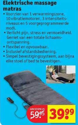 Kruidvat Elektrische Massage Matras