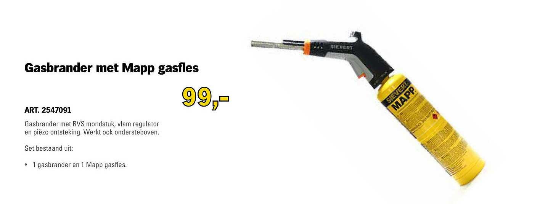 Toolspecial Gasbrander Met Mapp Gasfles