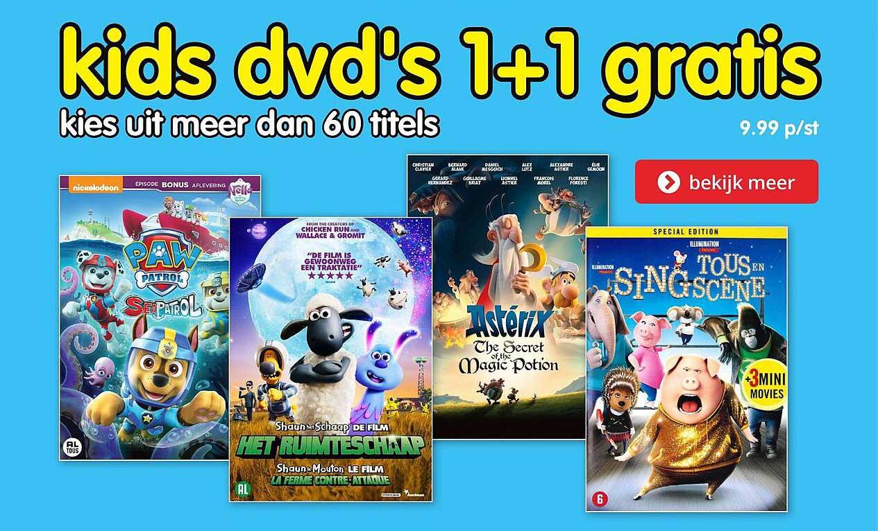 BoekenVoordeel Kids DVD's 1+1 Gratis