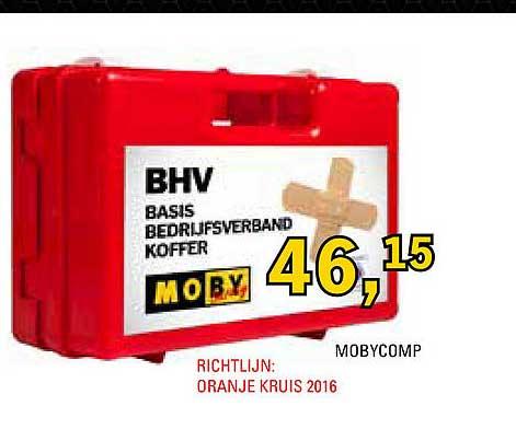 Toolspecial Mobycomp BHV Basis Bedrijfsverband Koffer