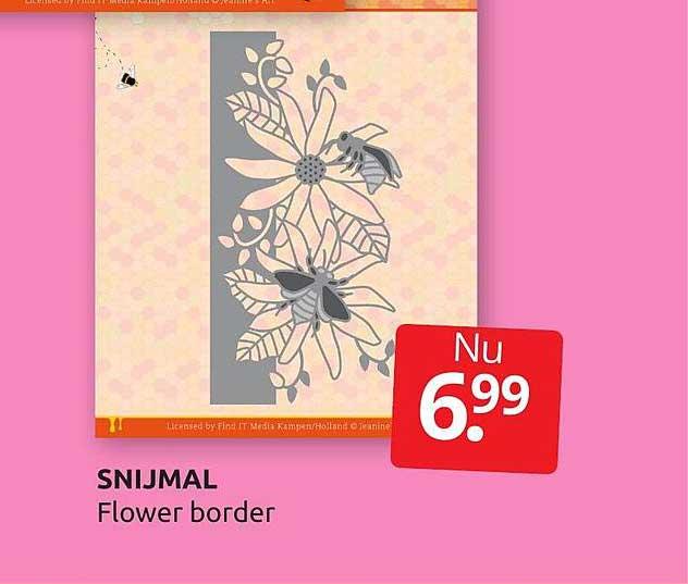BoekenVoordeel Snijmal Flower Border