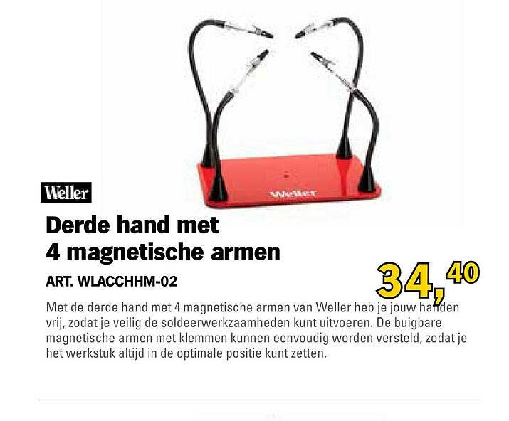 Toolspecial Weller Derde Hand Met 4 Magnetische Armen