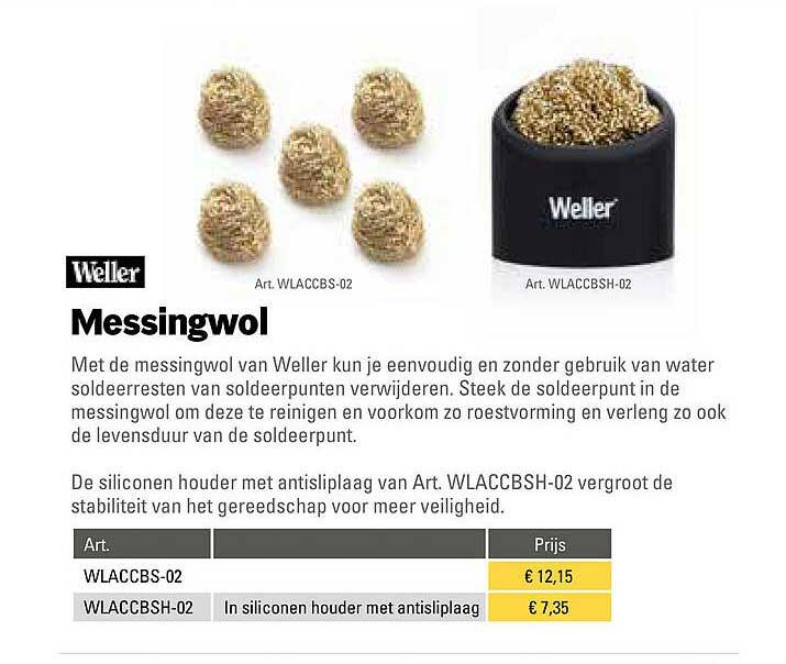 Toolspecial Weller Messingwol