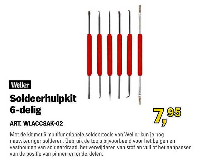 Toolspecial Weller Soldeerhulpkit 6-Delig