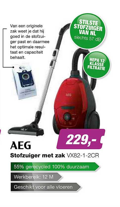 EP AEG Stofzuiger Met Zak VX82-1-2CR