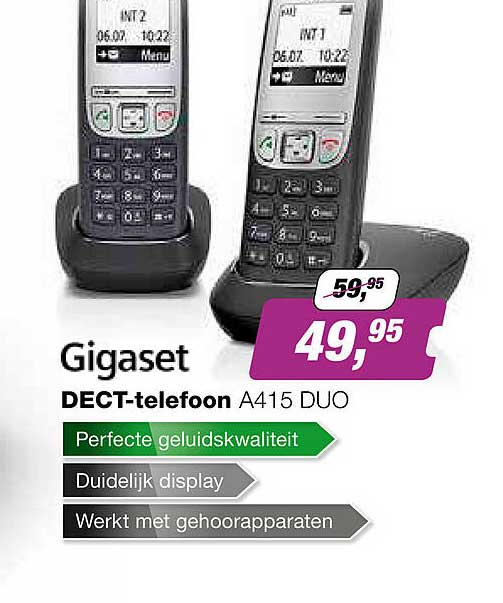 EP Gigaset Dect-Telefoon A415 Duo