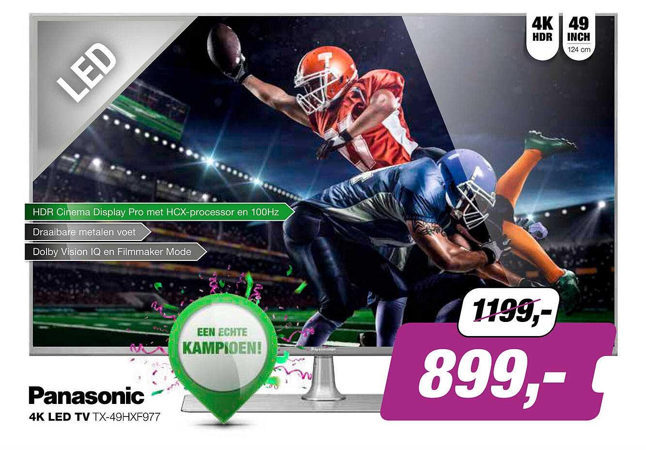 EP Panasonic 4K Led TV TX-49HXF977