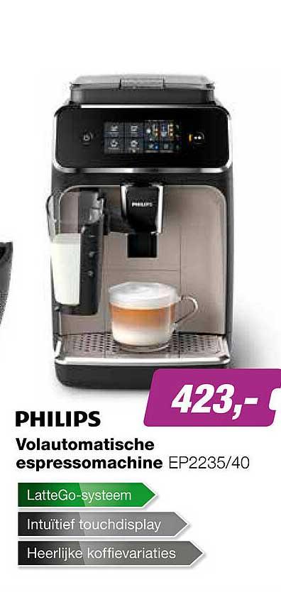 EP Philips Volautomatische Espressomachine EP2235-40
