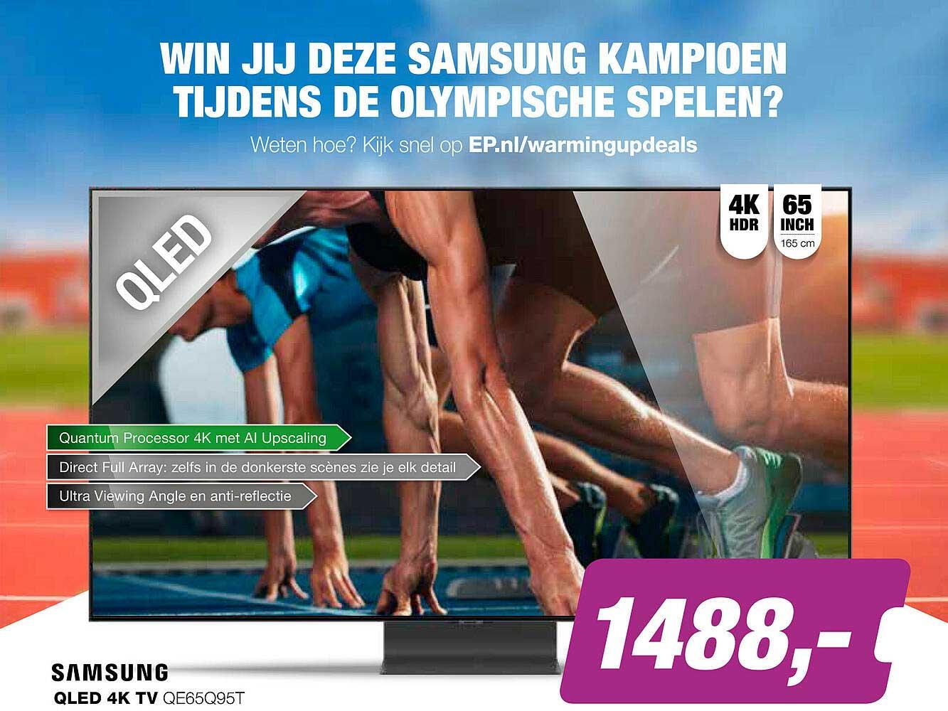 EP Samsung QLED 4K TV QE65Q95T