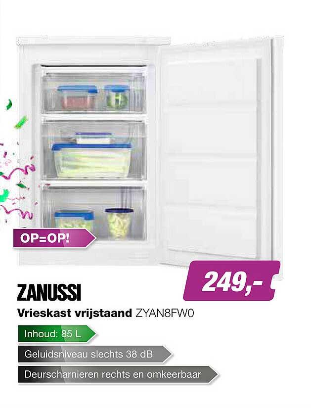EP Zanussi Vrieskast Vrijstaand ZYAN8FW0