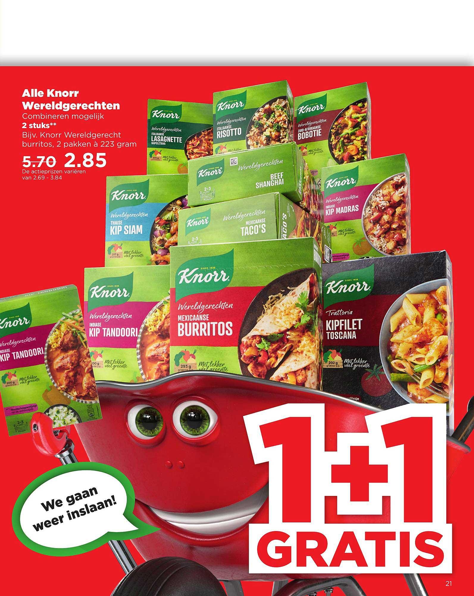 PLUS Alle Knorr Wereldgerechten 1+1 Gratis