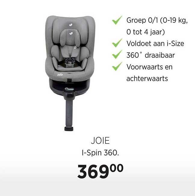 Babypark Joie I-Spin 360 Autostoel