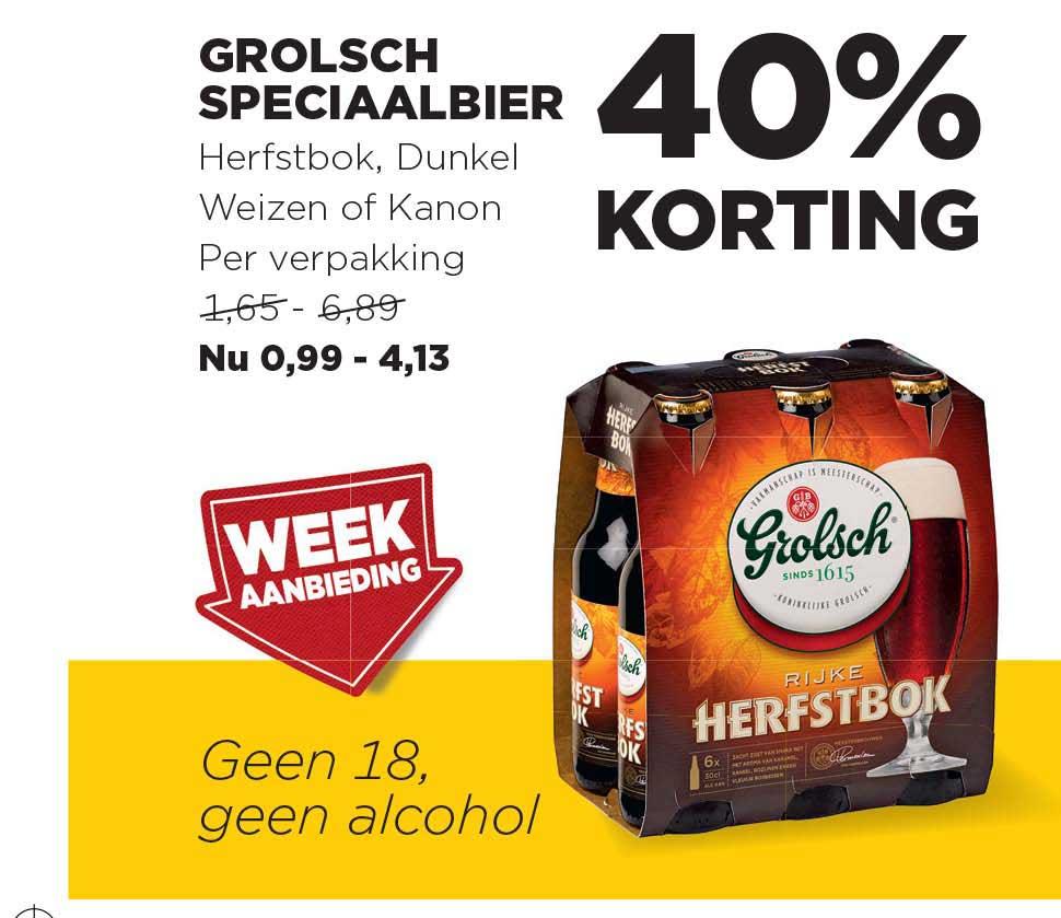 Jumbo Grolsch Speciaalbier: 40% Korting