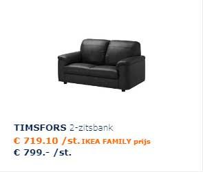 Ikea Zwart Leren Bank.Timsfors 3 Zitsbank Aanbieding Bij Ikea