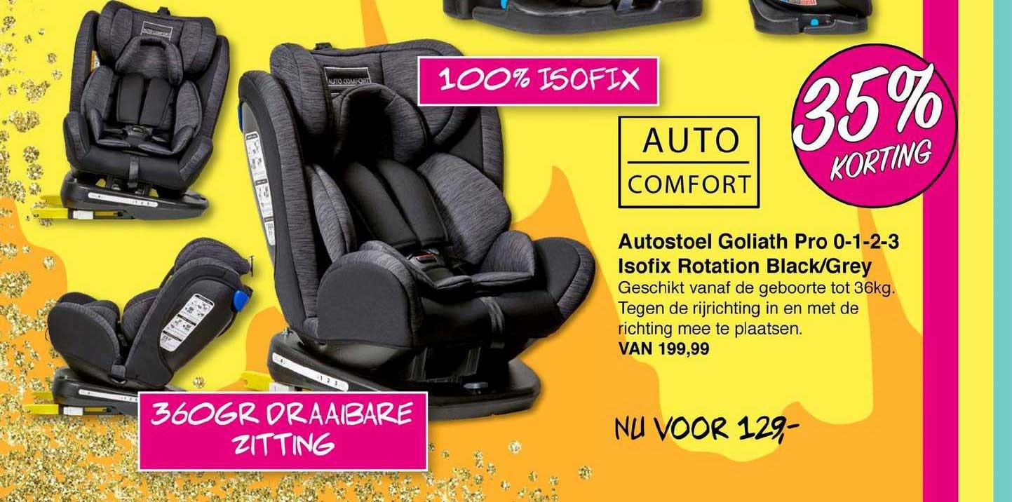 Van Asten Autostoel Goliath Pro 0-1-2-3 Isofix Rotation Black-Grey 35% Korting