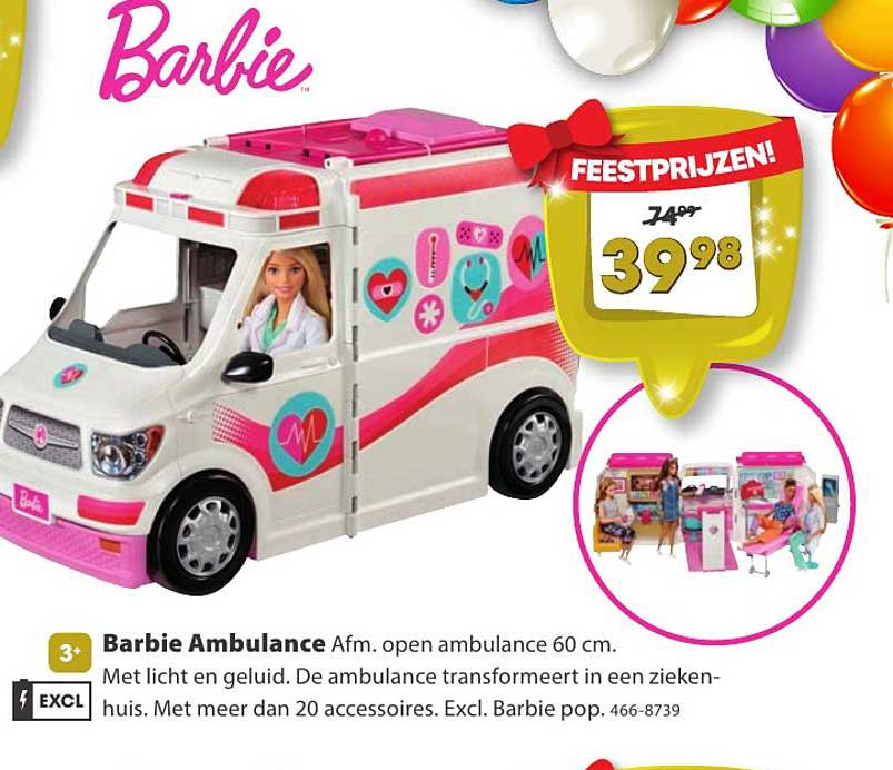 Top 1 Toys Barbie Ambulance