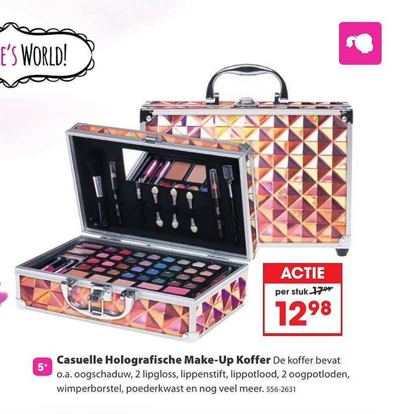Top 1 Toys Casuelle Holografische Make Up Koffer