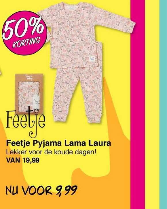 Van Asten Feetje Pyjama Lama Laura 50% Korting