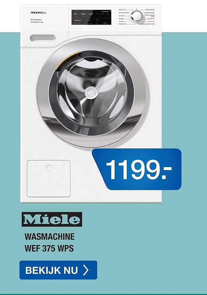 Electro World Miele Wasmachine WEF 375 WPS