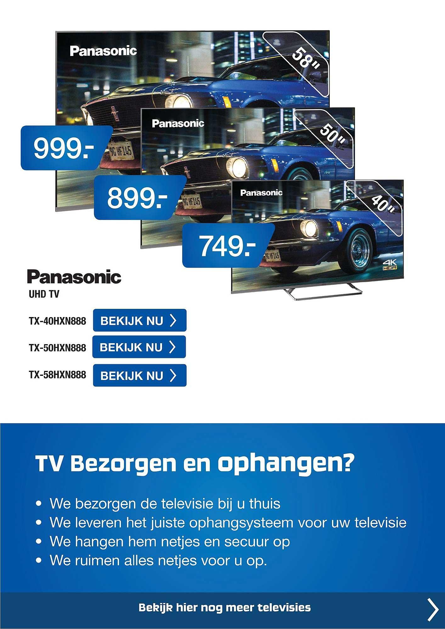Electro World Panasonic UHD TV TX-40HXN888, TX-50HXN888 Of TX-58HXN888
