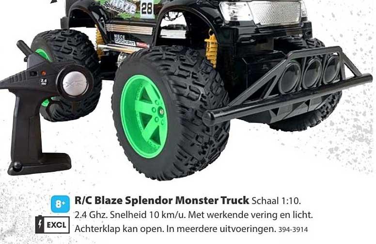 Top 1 Toys R C Blaze Splendor Monster Truck