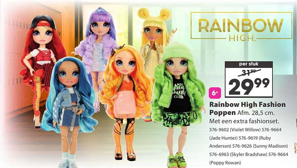 Top 1 Toys Rainbow High Fashion Poppen