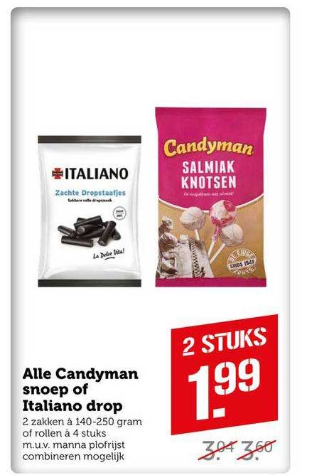 Coop Compact Alle Candyman Snoep Of Italiano Drop