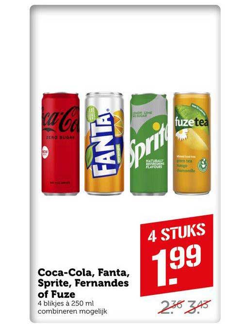 Coop Compact Coca-Cola, Fanta, Sprite, Fernandes Of Fuze