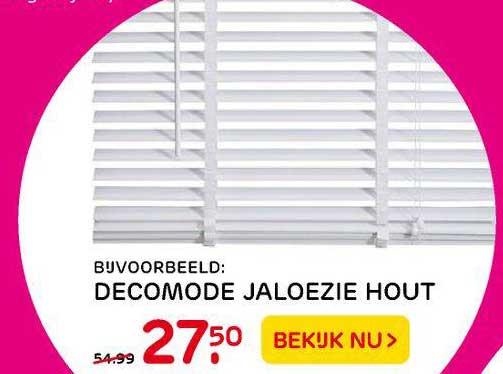 Praxis Decomode Jaloezie Hout