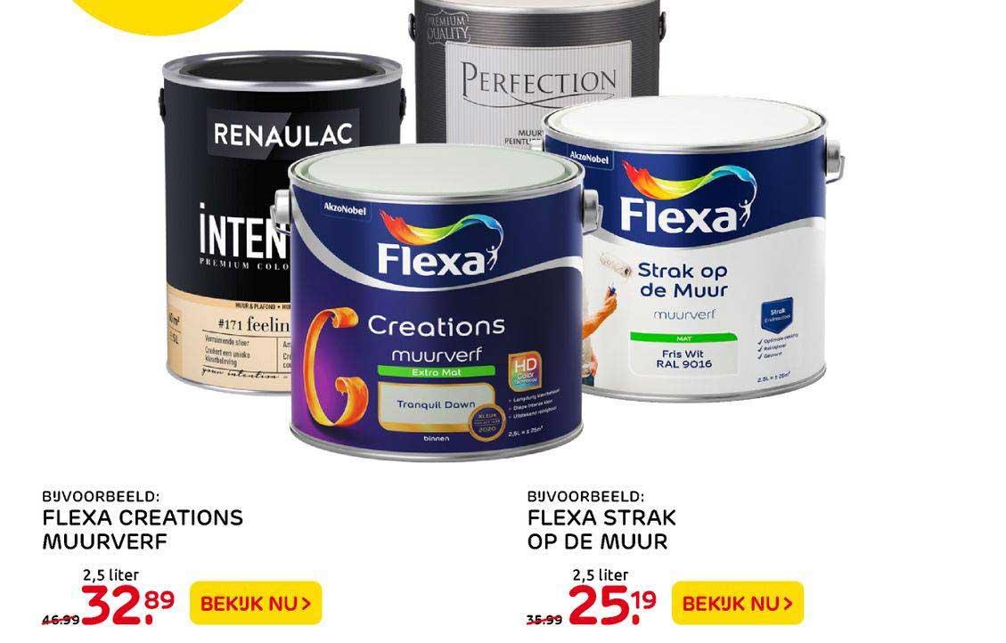 Praxis Flexa Creations Muurverf Of Flexa Strak Op De Muur