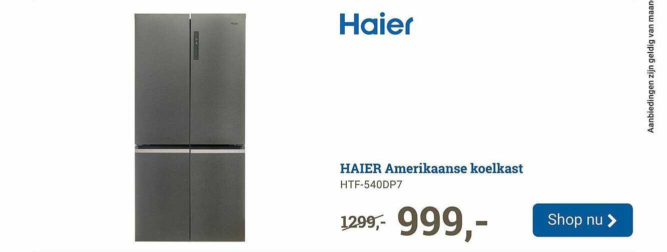 BCC Haier Amerikaanse Koelkast HTF-540DP7