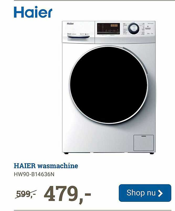 BCC Haier Wasmachine HW90-B14636N