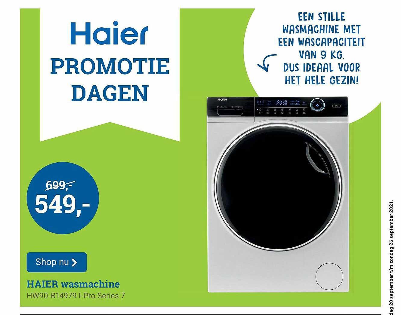 BCC Haier Wasmachine HW90-B14979 I-Pro Series 7