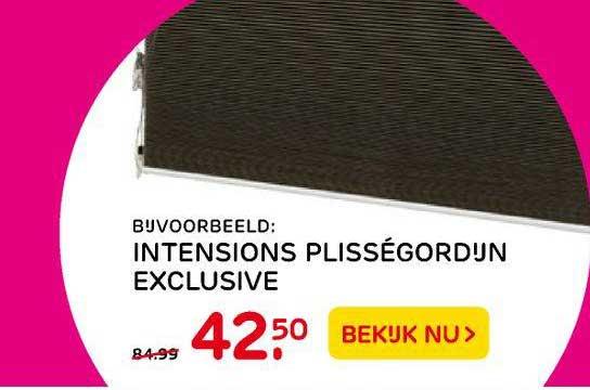 Praxis Intensions Plisségordijn Exclusive