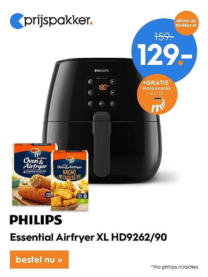 Blokker Philips Essential Airfryer XL HD9262-90