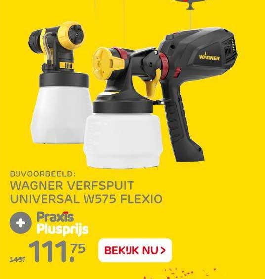 Praxis Wagner Verfspuit Universal W575 Flexio
