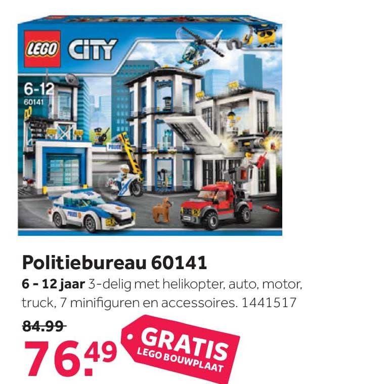 Intertoys Lego City Politiebureau 60141 + GRATIS Lego Bouwplaat