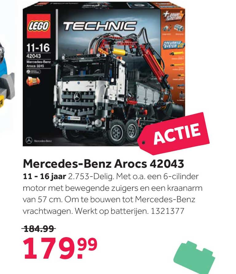 Intertoys Lego Technic Mercedes Benz Arocs 42043