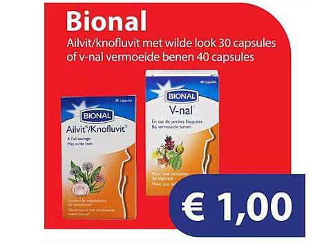 Die Grenze Bional Ailvit-Knofluvit Met Wilde Look 30 Capsules Of V-Nal Vermoeide Benen 40 Capsules
