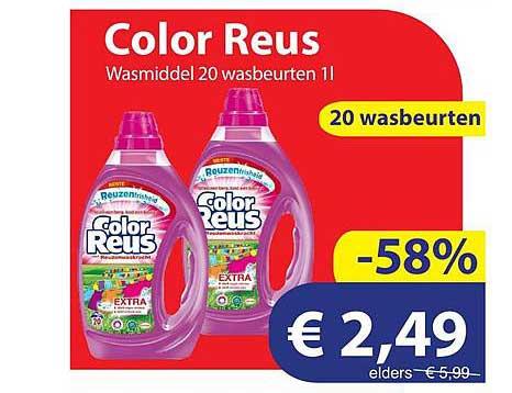 Die Grenze Color Reus Wasmiddel 20 Wasbeurten 1L