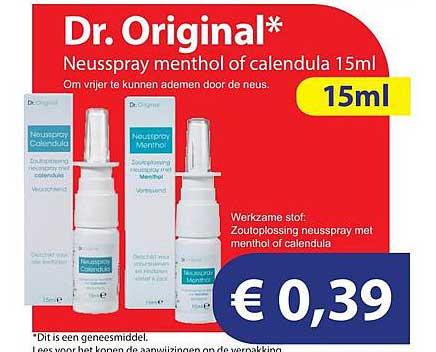Die Grenze Dr. Original Neusspray Menthol Of Calendula 15ml
