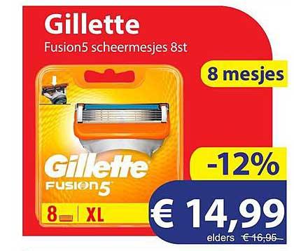 Die Grenze Gillette Fusion5 Scheermesjes 8st