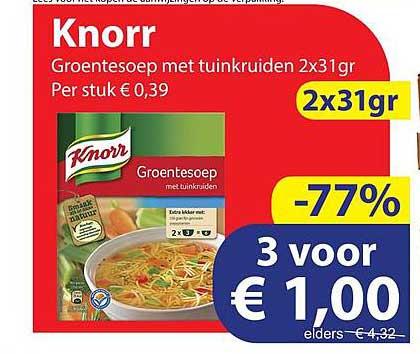 Die Grenze Knorr Groentesoep Met Tuinkruiden 2x31gr