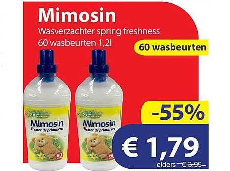 Die Grenze Mimosin Wasverzachter Spring Freshness 60 Wasbeurten
