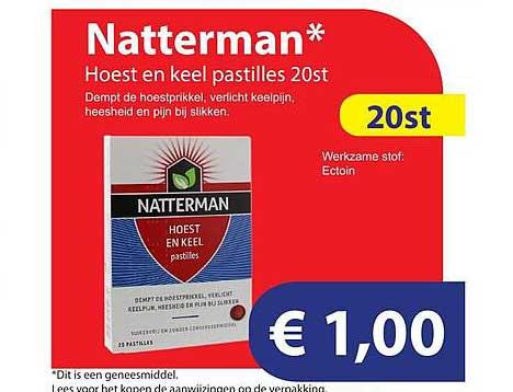 Die Grenze Natterman Hoest En Keel Pastilles 20st