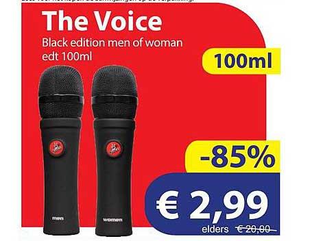 Die Grenze The Voice Black Edition Men Of Woman Edt 100ml